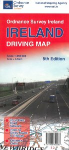 Ireland Driving Map, Straßenkarte Irland/Nordirland