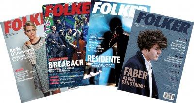 """Folker: für 4 Euro: diese vier """"Reklame""""-Ausgaben 2,3, 5 und 6 aus 2017. Wir bezahlen das Porto."""