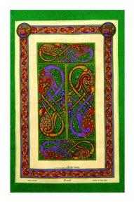 Geschirrtuch Book of Kells 2