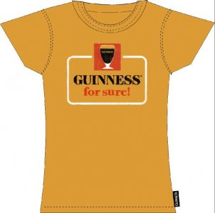 Ladies Guinness T-Shirt `Guinness For Sure`