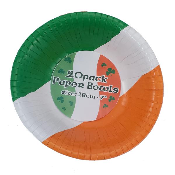 20er Pack Papschüsseln- 18 cm - im irischen Design