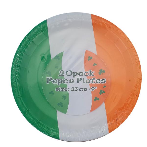 20er Pack Pappteller - 23cm - im irischen Design