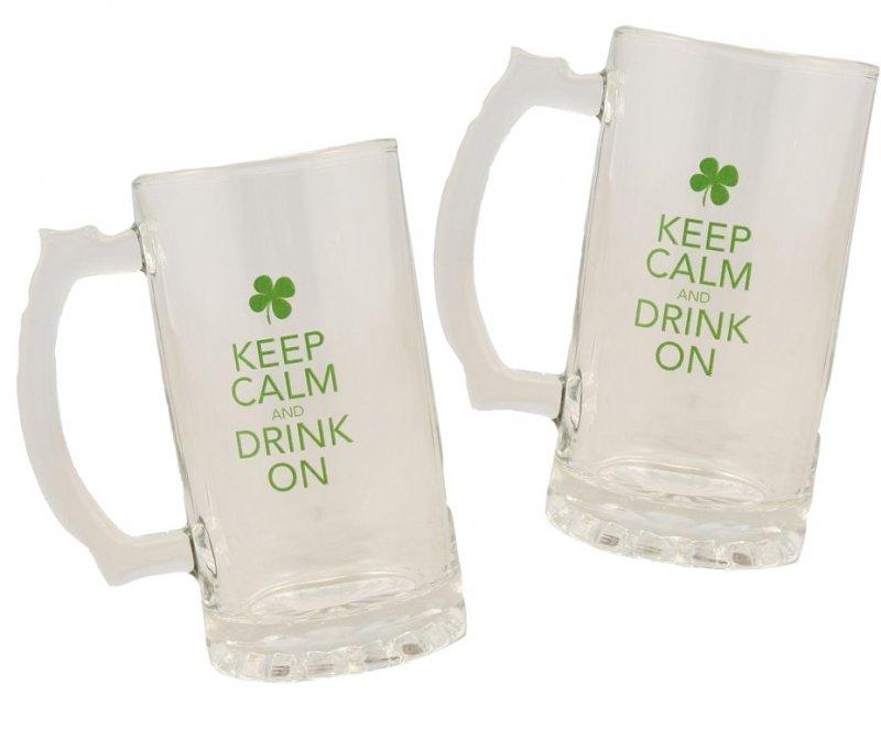 Reduziert! - Zwei Biergläser mit Henkel (Tankard) - im Doppelpack! I swear to drunk I'm not God!