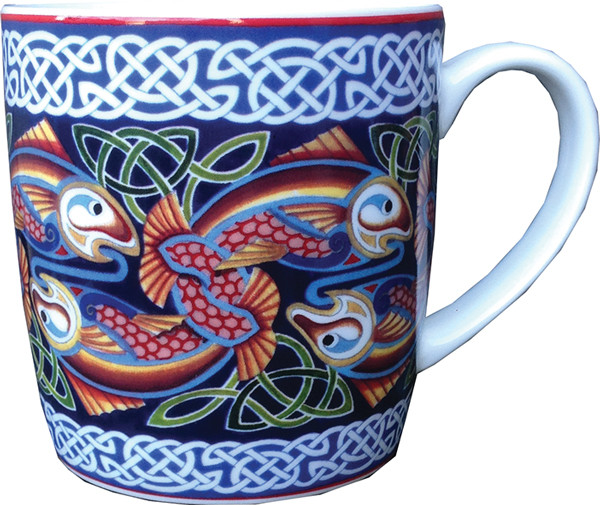 Keramiktasse Celtic Fish