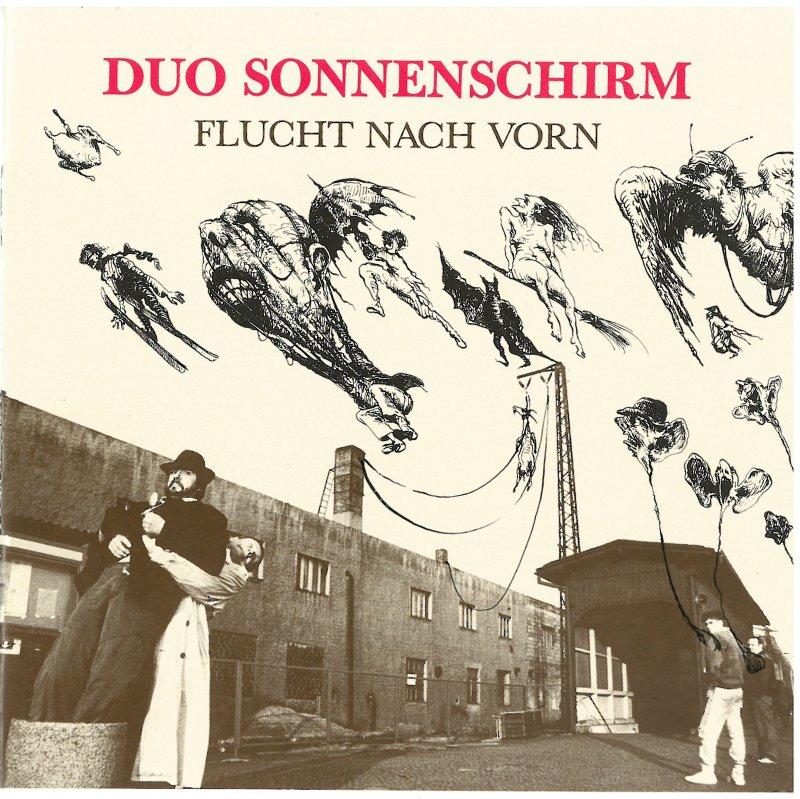 """Duo Sonnenschirm """" Flucht nach vorn"""""""
