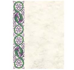 Schreibpapier Purple Fish