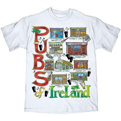 T-Shirt: Pubs of Ireland M