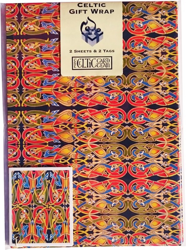 Geschenkpapier Celtic Muster 2 Sheets - Geburtstagspreis zum 33.!