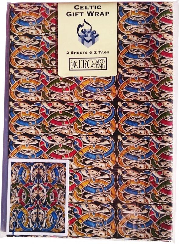 Geschenkpapier Celtic Stone Muster 2 Sheets
