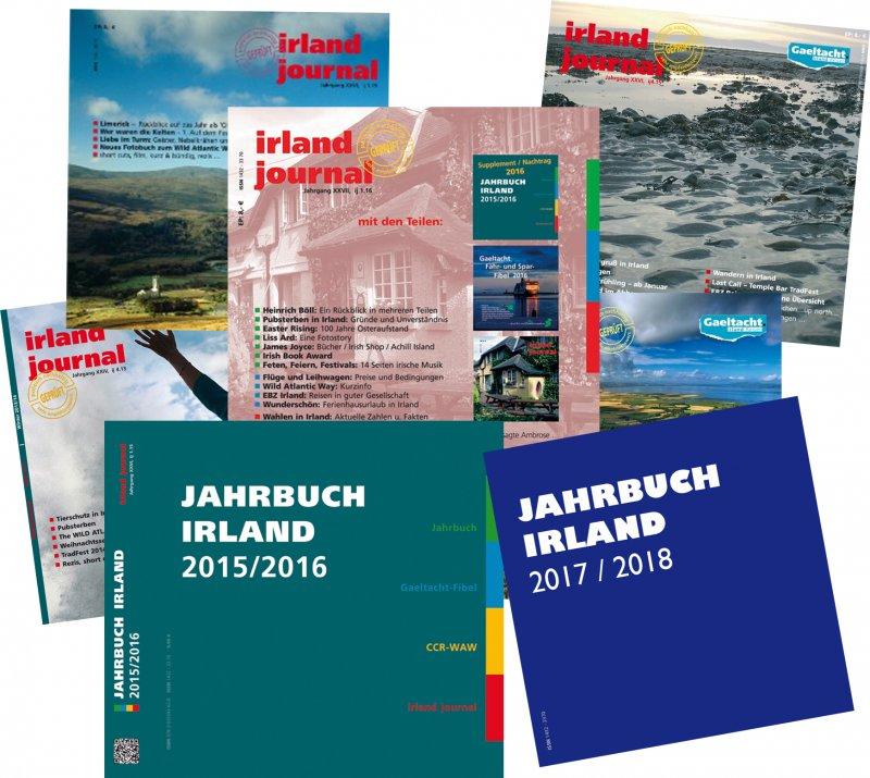 """irland journal Test Abo 2018 mit Bonus aus 2017. Und dem """"alten"""" Jahrbuch gratis dazu."""