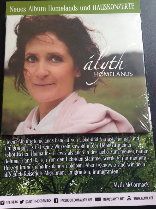 Alyth McCormack - Homelands CD