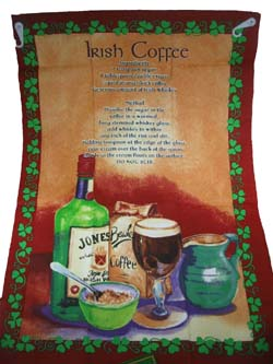 Geschirrtuch: Irish Coffee