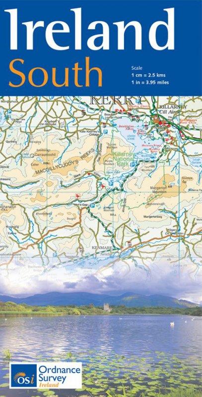 Karte: Ireland South - wieder lieferbar! Alle anderen auch.