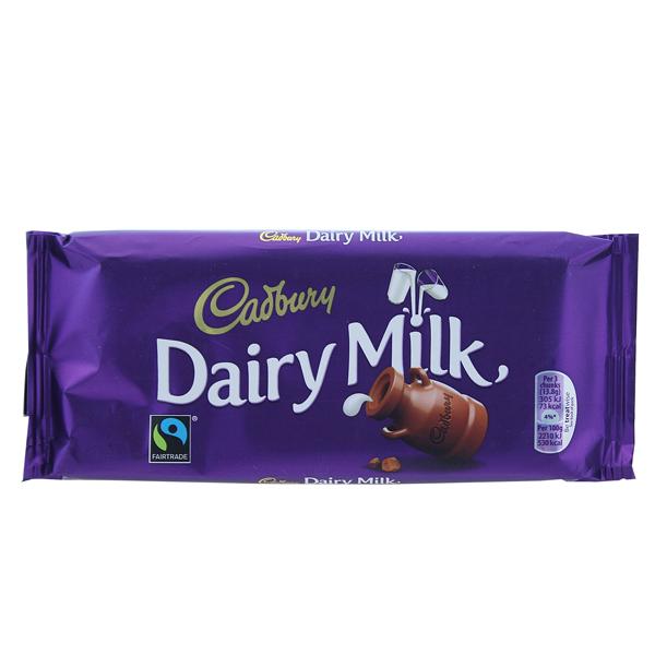 2 x Cadbury Dairy Milk - Schokolade - 110 gramm - zum Preis von einer: weil abgelaufen