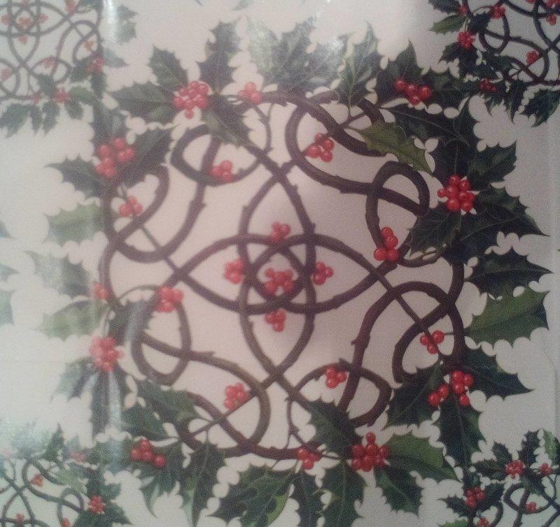 Geschenkpapier Holly Wreath