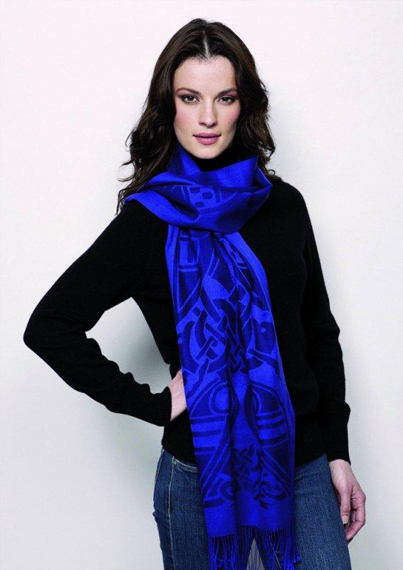 Feiner Wollschal (Blau)