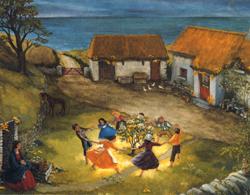 4 Tischbrettchen im Folklore Design