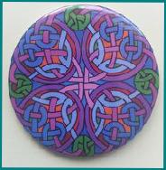 Celtic Designed-Taschenspiegel Aberlemno Slab Cross