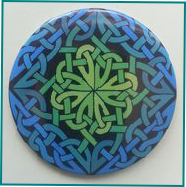 Celtic Designed-Taschenspiegel Canna Cross