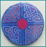 Celtic Designed-Taschenspiegel Pennannular Brooch