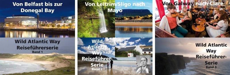 Reiseführer zum Wild Atlantic Way - die ersten drei Bände